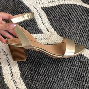 Gold strappy sandal
